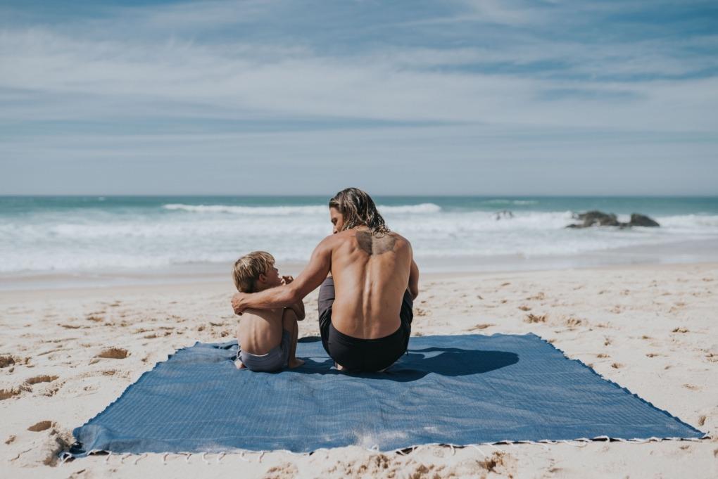 futah beach towels double Ericeira XL Towel Indigo Blue Lookbook 5 DSC09735
