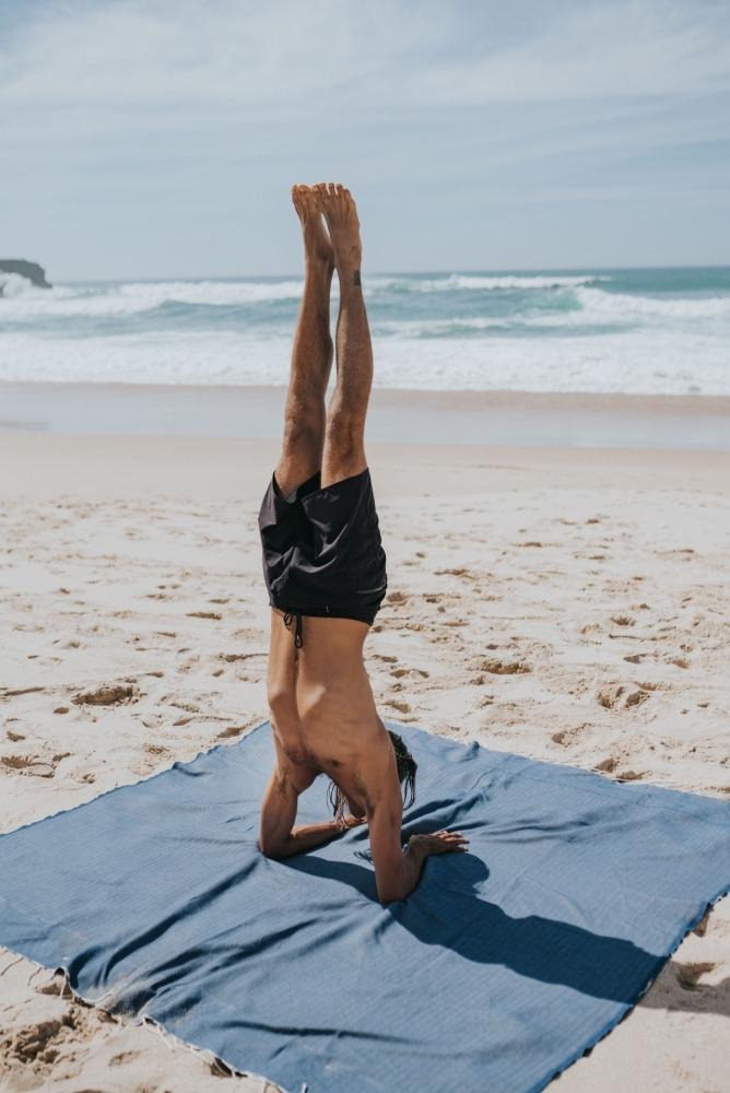 futah beach towels double Ericeira XL Towel Indigo Blue Lookbook 1 DSC09713
