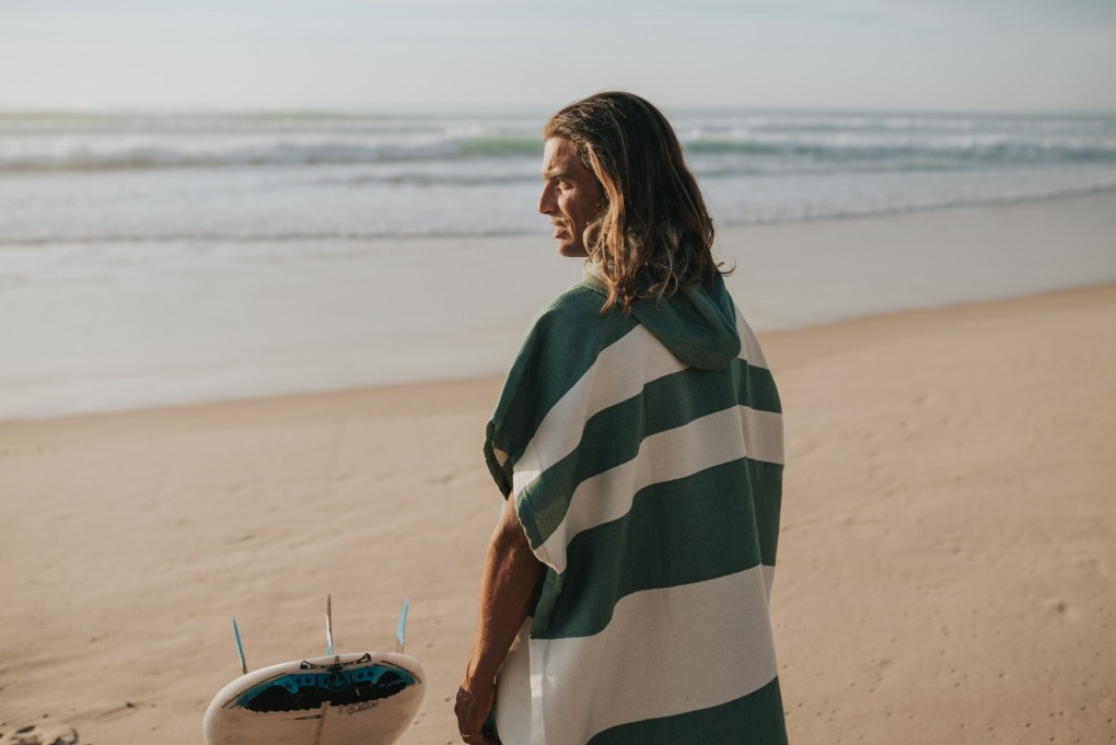 futah beach towels poncho Formosa Poncho Verdant Green Lookbook 3 DSC00531