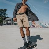futah black flannel shirt and black nazare socks_min
