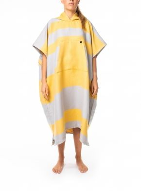 Futah - Poncho Formosa Mustard and Grey