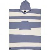 futah beach towels poncho Formosa Poncho Indigo Blue Front_min