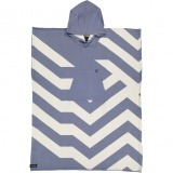 futah beach towels poncho Malcata Poncho Blue Front_min