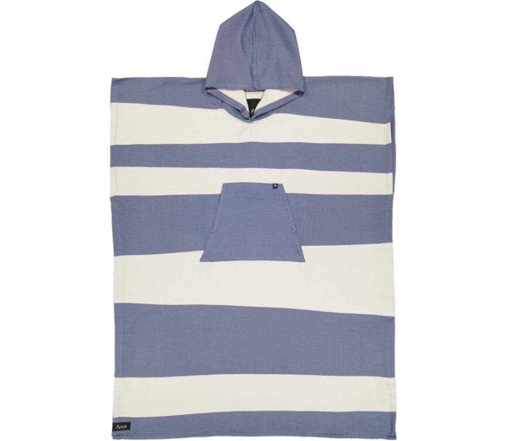 futah beach towels poncho Formosa Poncho Indigo Blue Front