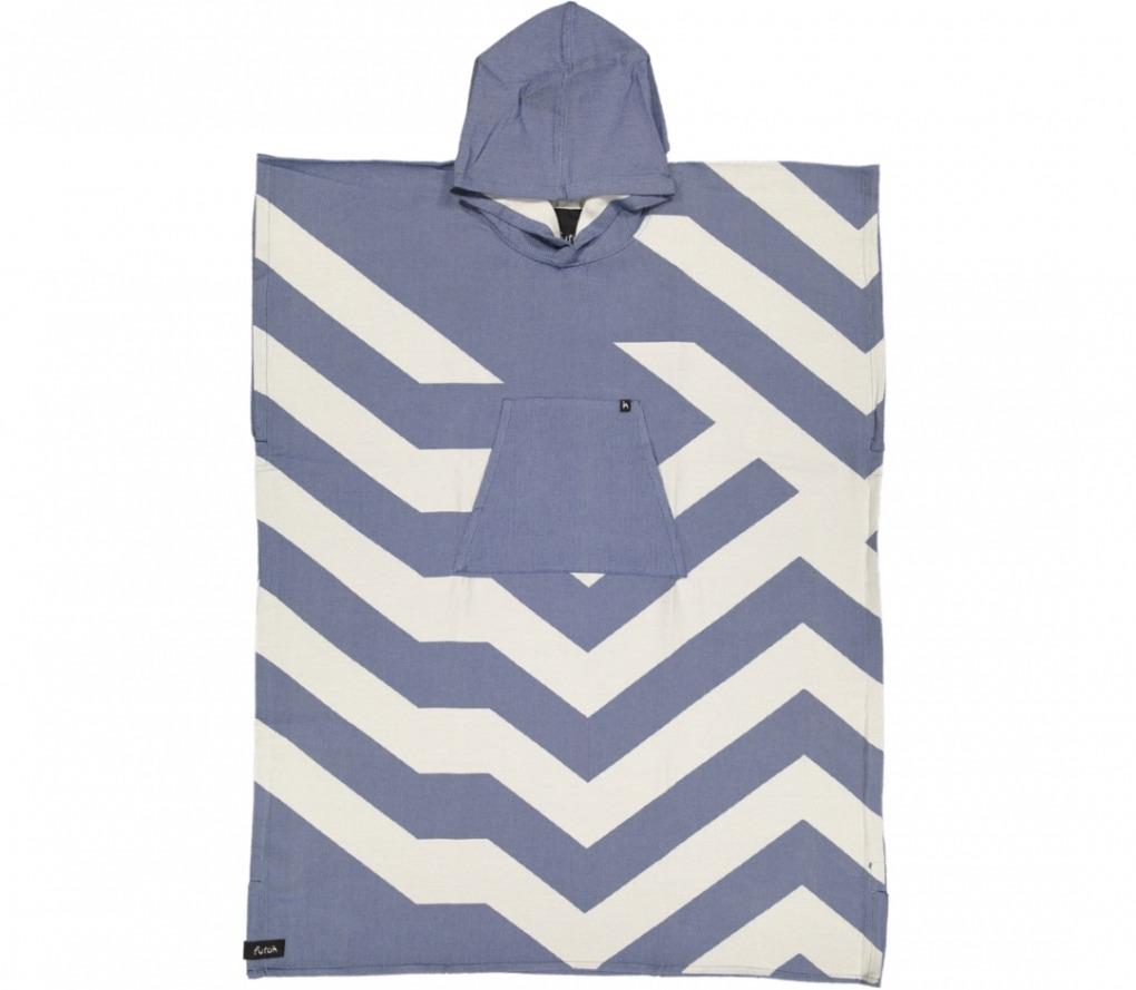 futah beach towels poncho Malcata Poncho Blue Front