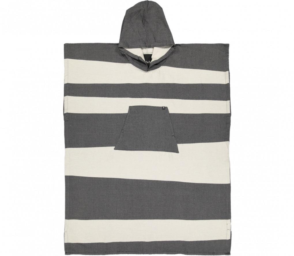 futah beach towels poncho Formosa Poncho Deep Black Front