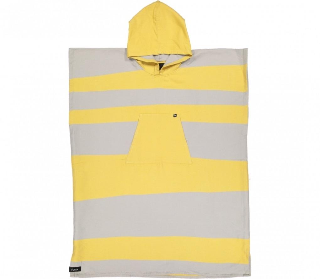futah beach towels poncho Formosa Poncho Mustard Grey Front