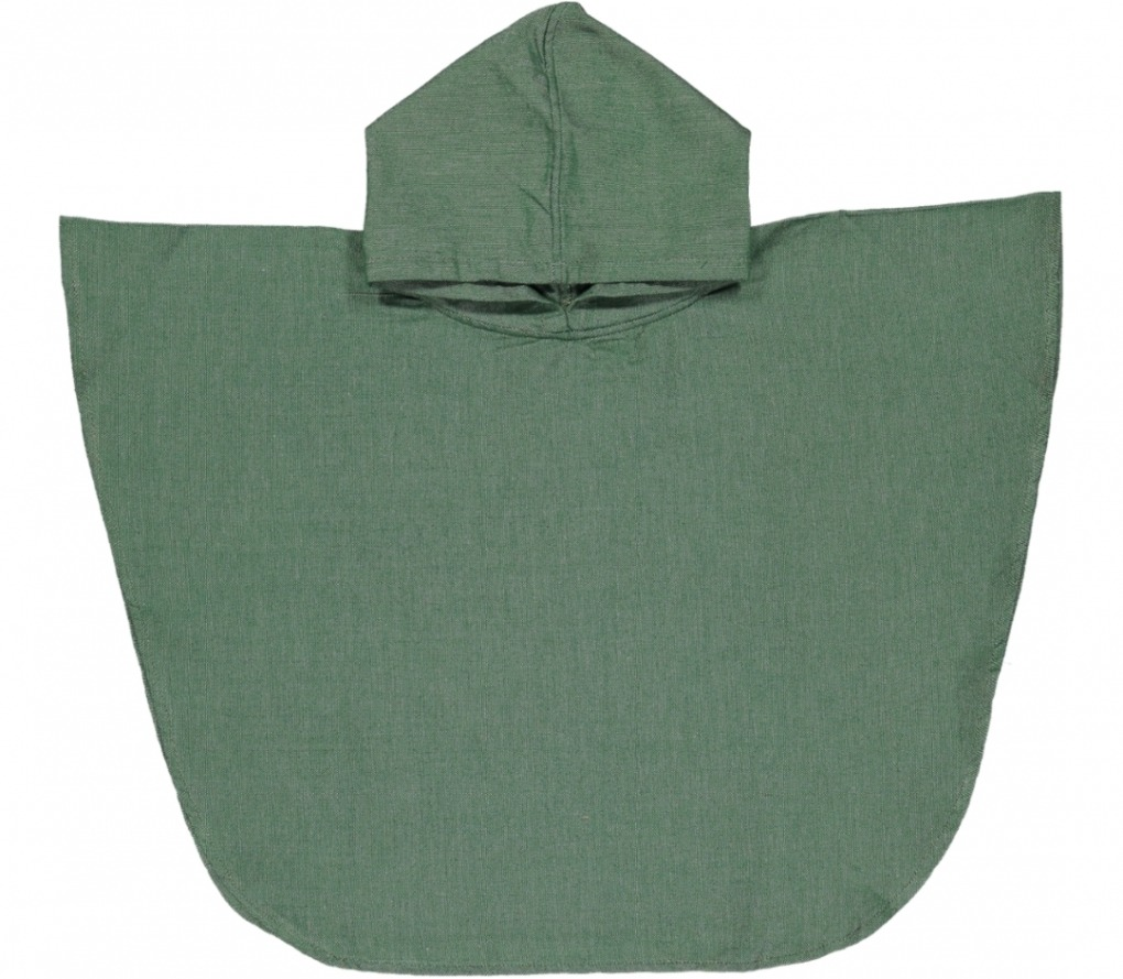 futah beach towels poncho baby Ericeira Baby Poncho Verdant Green Front