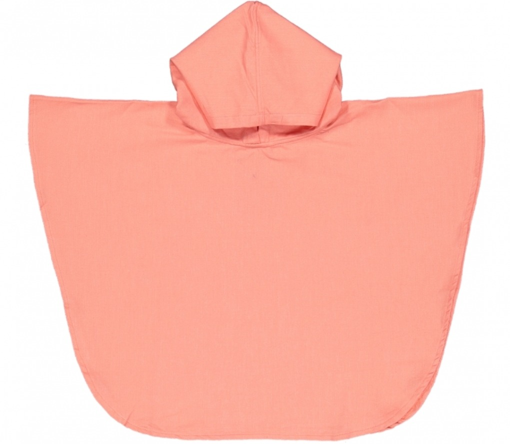futah beach towels poncho baby Ericeira Baby Poncho Coral Front