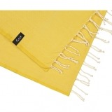 futah beach towels single Ericeira Single Towel Mustard Detail_min