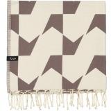 futah beach towels single Guadiana Single Towel Chestnut Folded_min