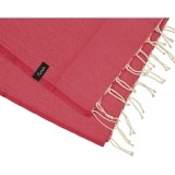 futah beach towels single Ericeira Single Towel Tango Red Detail_min