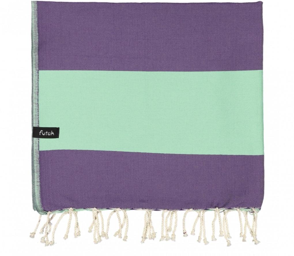 futah beach towels single Formosa Single Towel Purple Water Folded