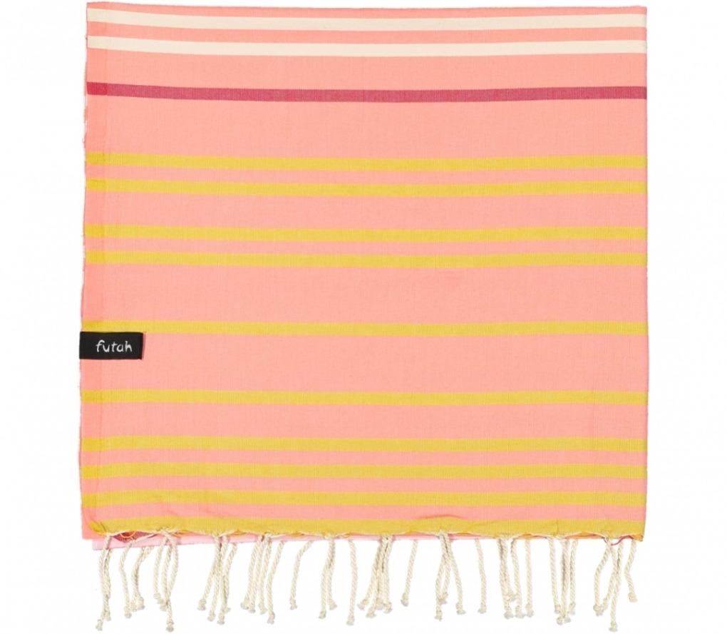 futah beach towels single Supertubos Single Towel Peach Folded