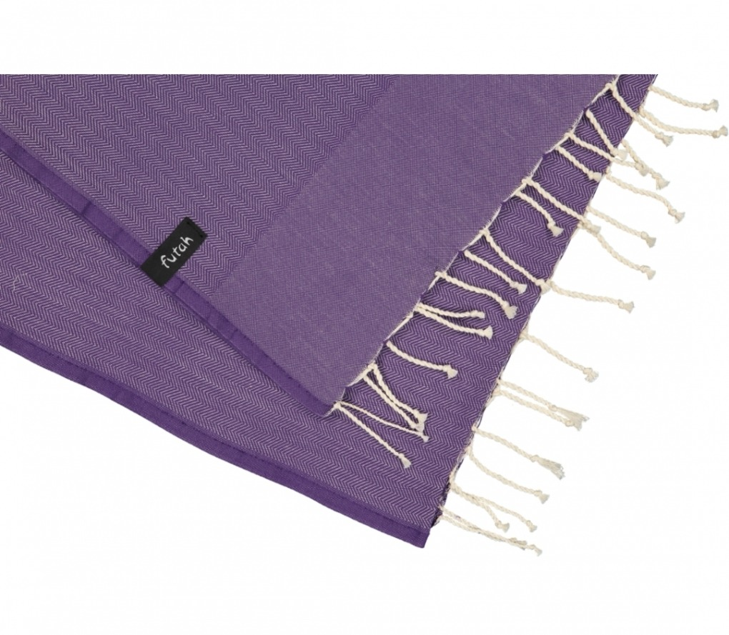 futah beach towels single Ericeira Single Towel Purple Detail