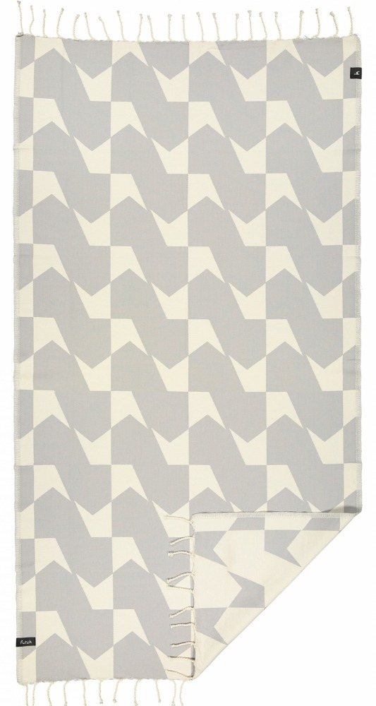 futah beach towels single Guadiana Single Towel Opal Grey Front 2_Front