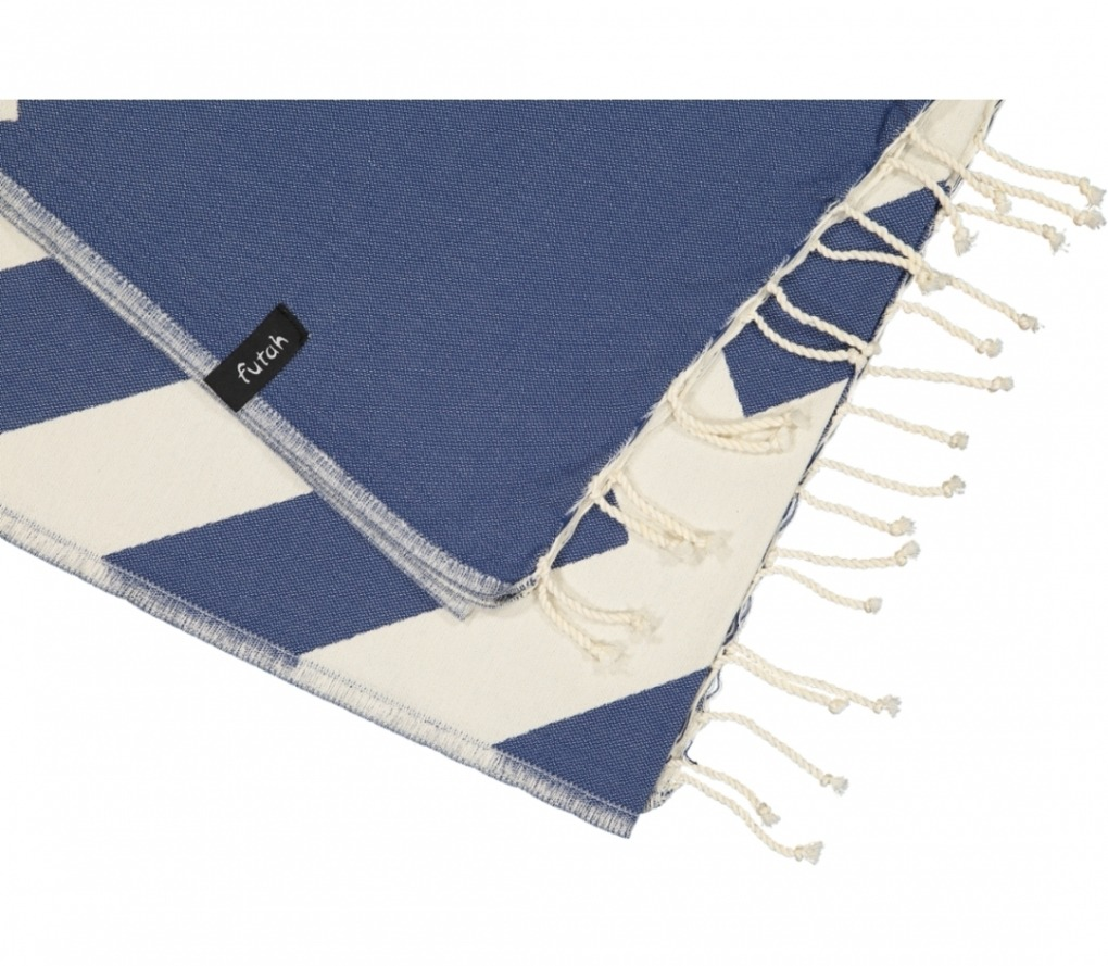 futah beach towels single Malcata Single Towel Blue Detail