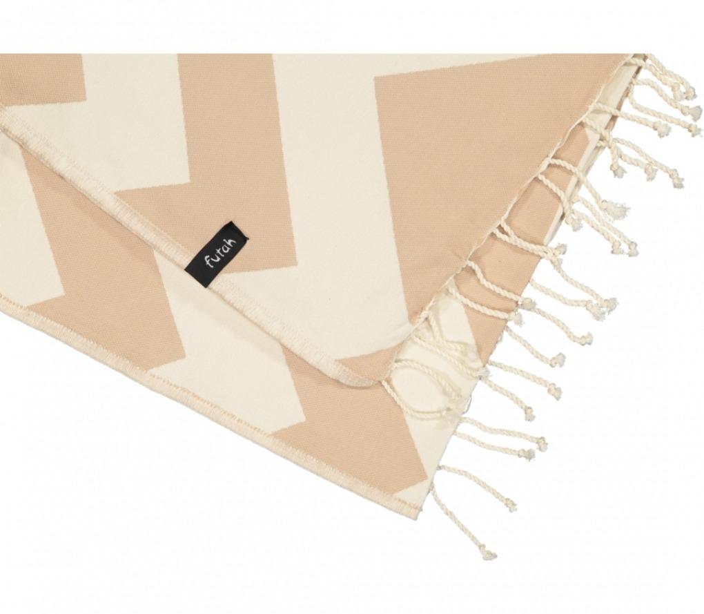 futah beach towels single Malcata Single Towel Mocha Detail