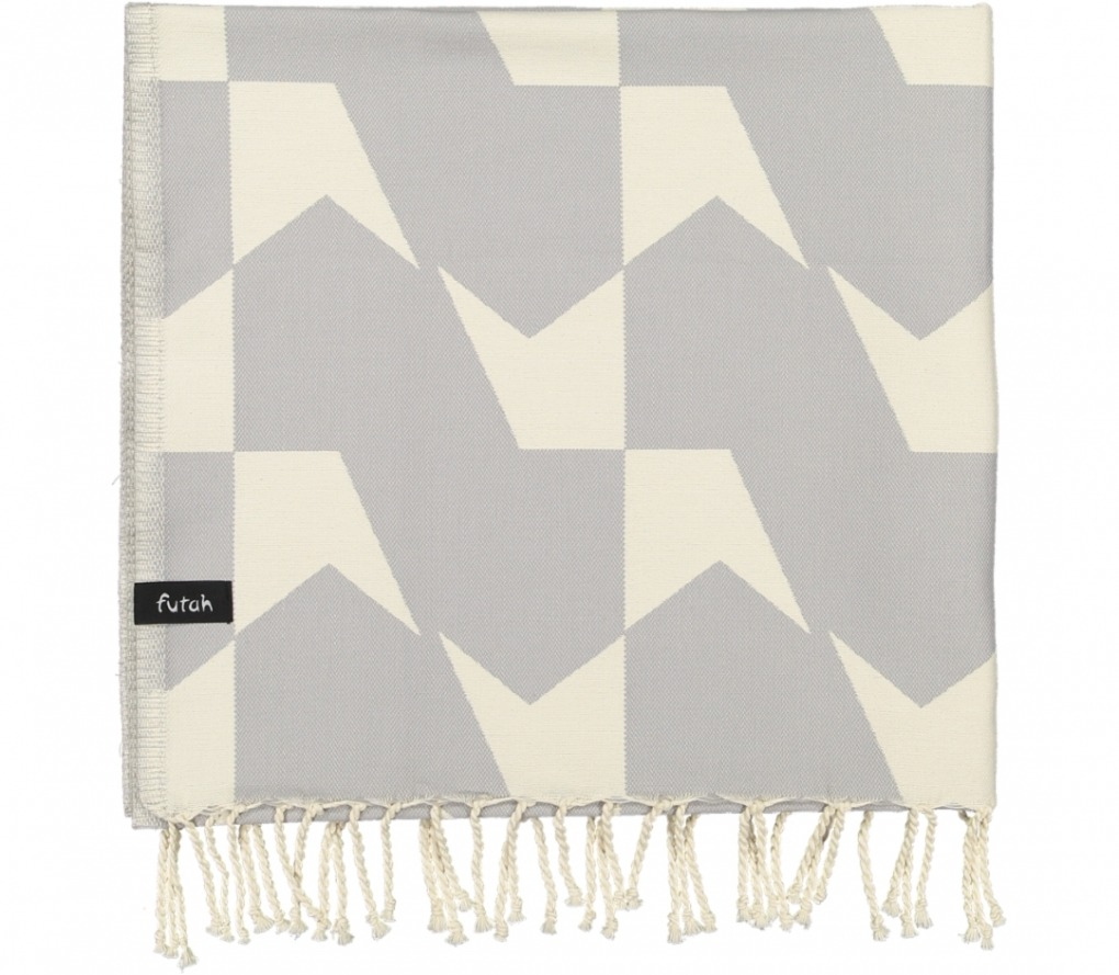 futah beach towels single guadiana opal grey_Folded_FUTAH