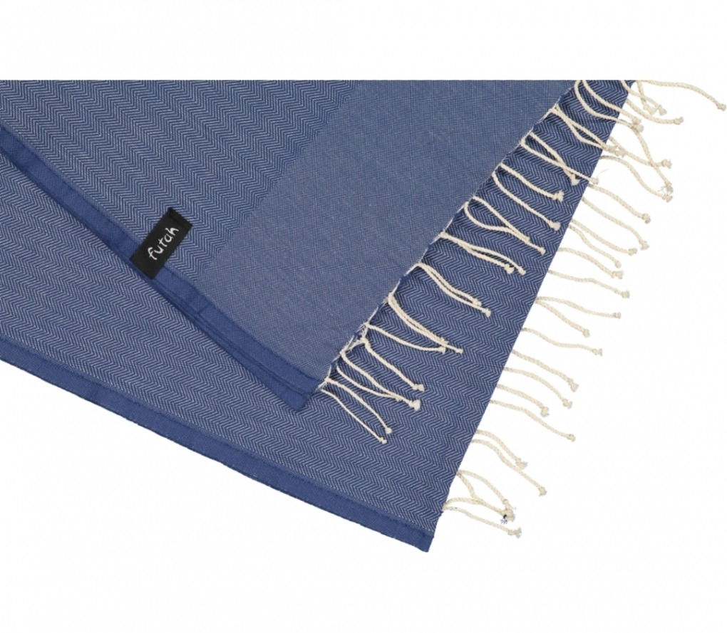 futah beach towels single Ericeira Single Towel Indigo Blue Detail