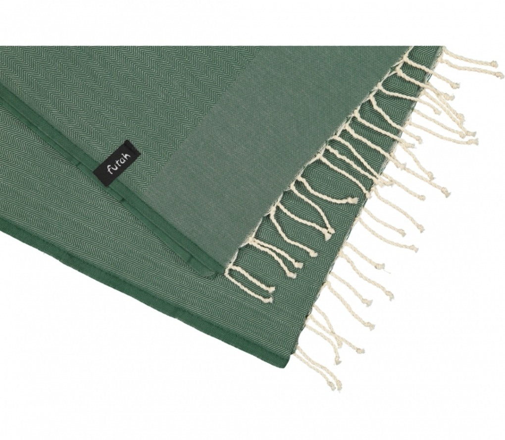 futah beach towels single Ericeira Single Towel Verdant Green Detail