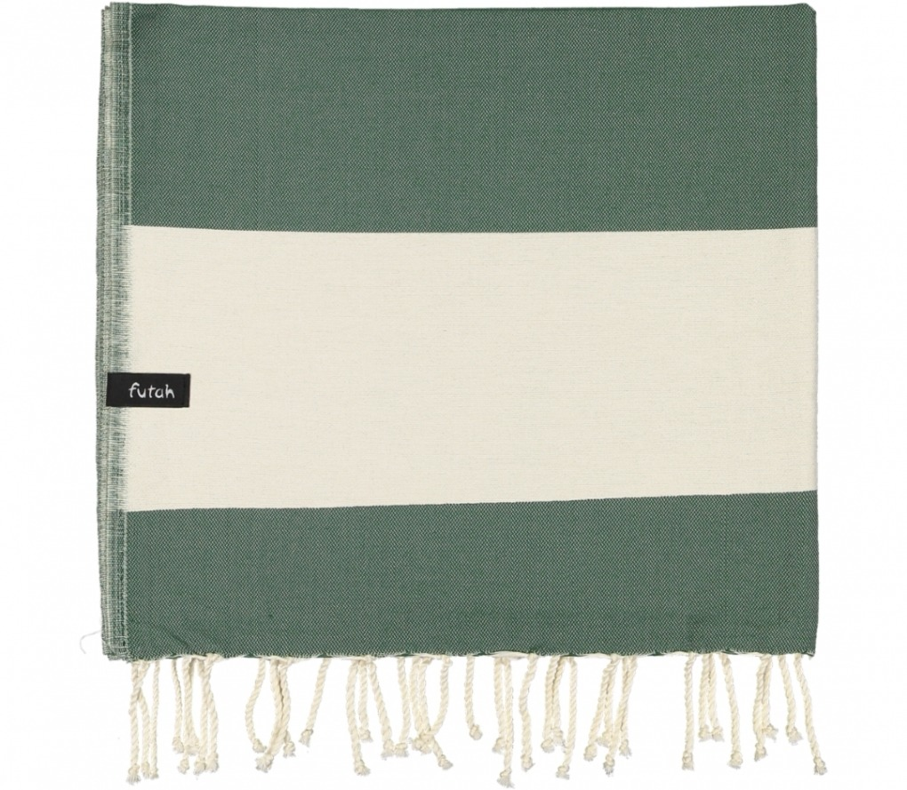 futah beach towels single Formosa Single Towel Verdant Green Folded (2)