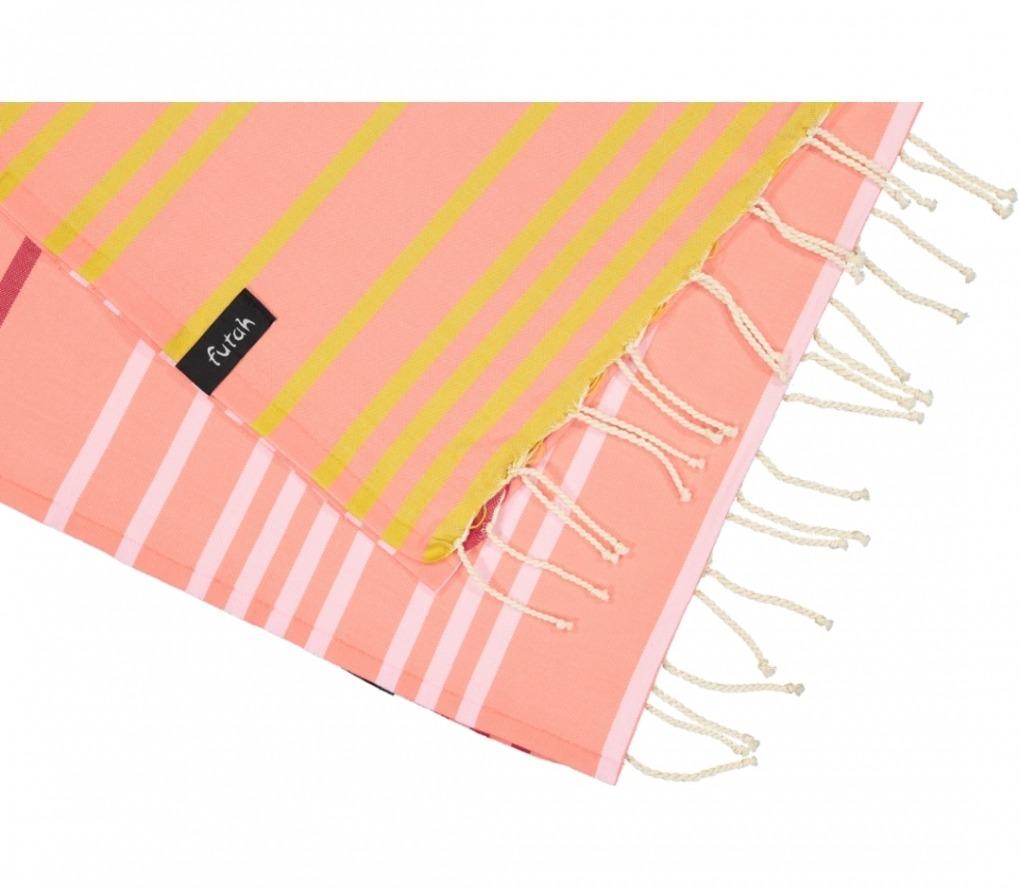 futah beach towels single Supertubos Single Towel Peach Detail
