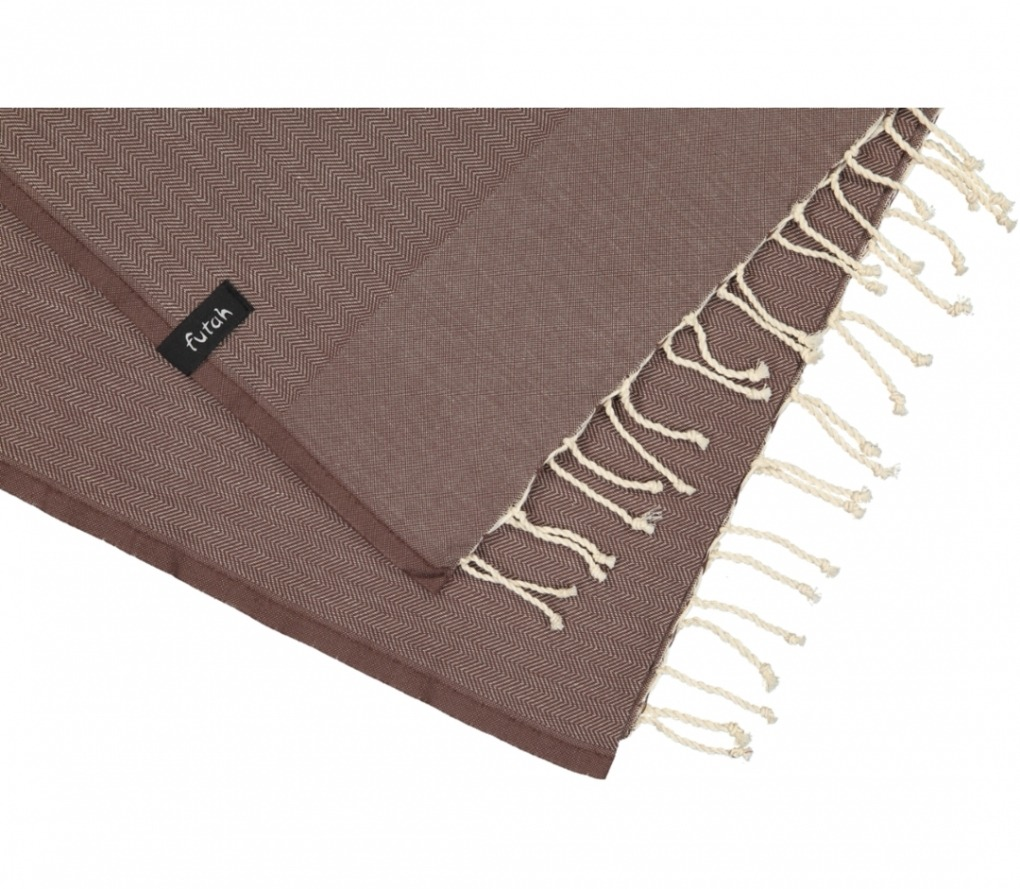 futah beach towels single Ericeira Single Towel Chestnut Detail
