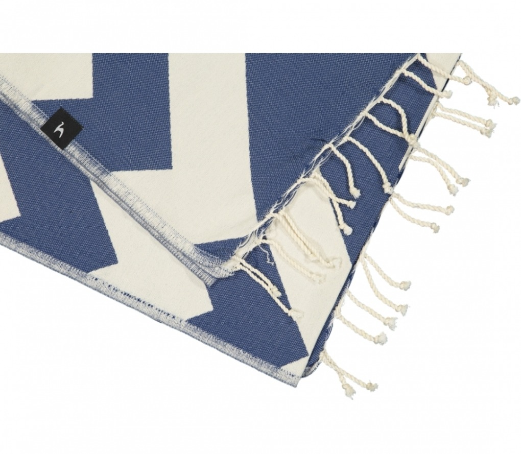 futah beach towels single Malcata Single Towel Blue Detail_1