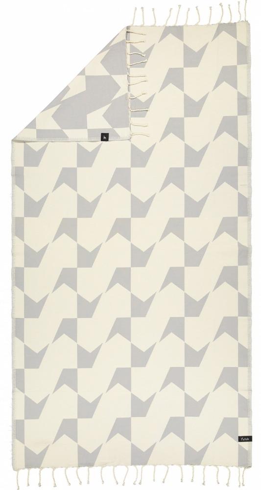 futah beach towels single Guadiana Single Towel Opal Grey_Back
