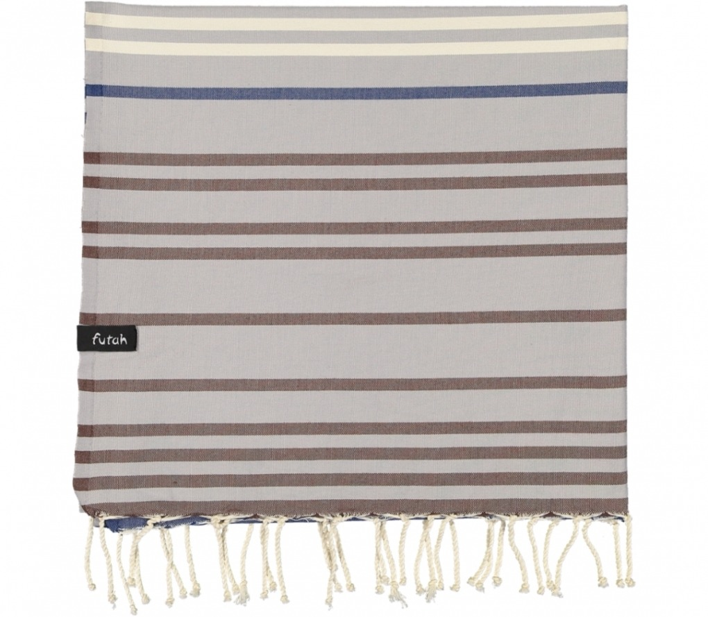 futah beach towels single Supertubos Single Towel Blue Folded