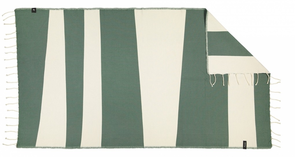 futah beach towels single Formosa Single Towel Verdant Green Front