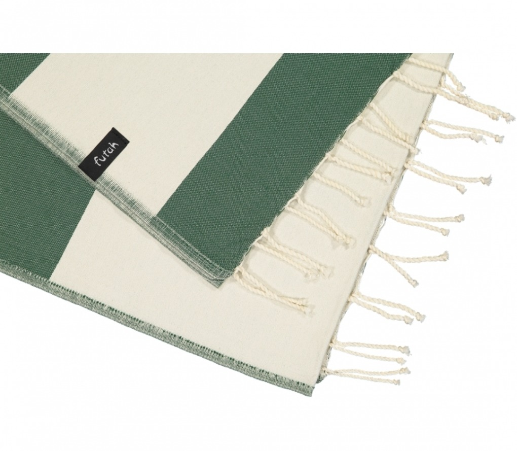 futah beach towels single Formosa Single Towel Verdant Green Detail (2)