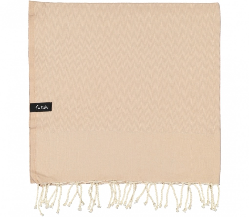 futah beach towels single Ericeira Single Towel Mocha Folded