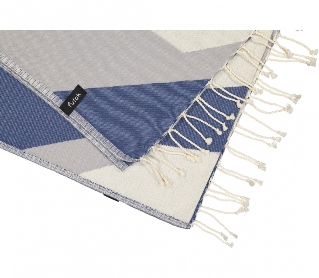 futah beach towels single Hippocampus Single Towel Indigo Blue 2