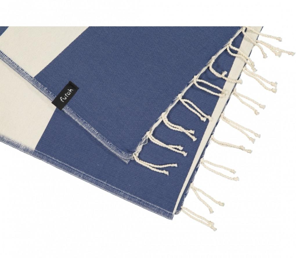 futah beach towels single Formosa Single Towel Indigo Blue Detail