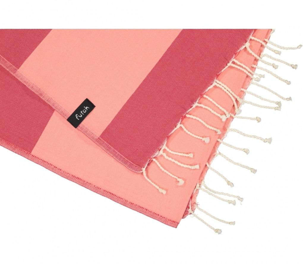 futah beach towels single Formosa Single Towel Coral Peach Detail