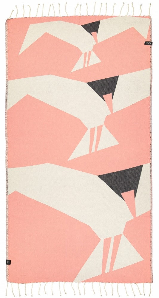 futah beach towels single Ciconia Single Towel Coral Front_1