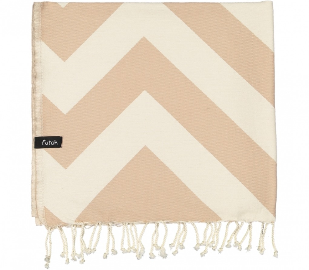 futah beach towels single Malcata Single Towel Mocha Folded