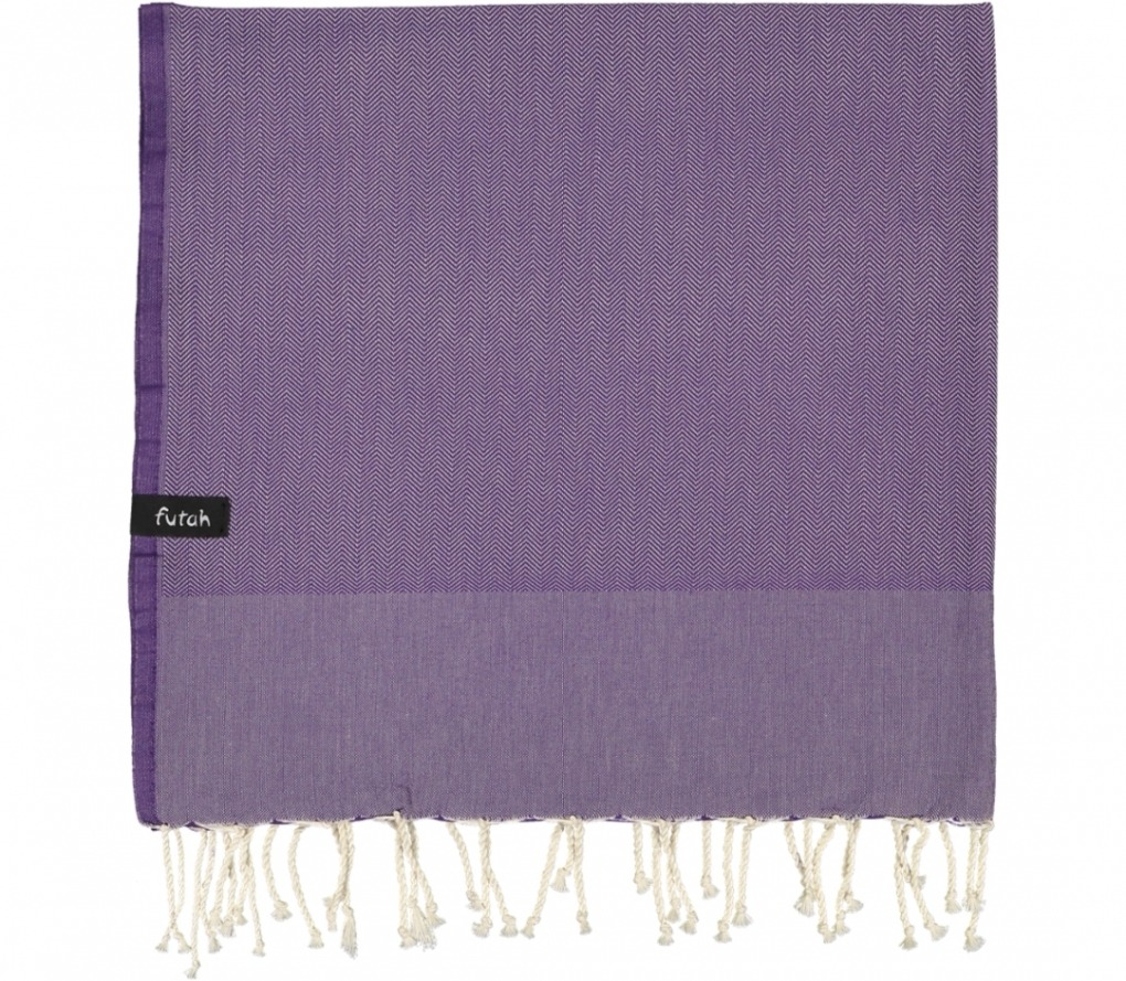 futah beach towels single Ericeira Single Towel Purple Folded