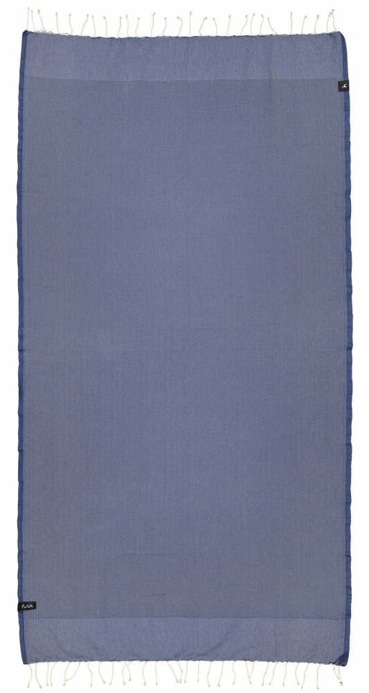 futah beach towels single Ericeira Single Towel Indigo Blue Front