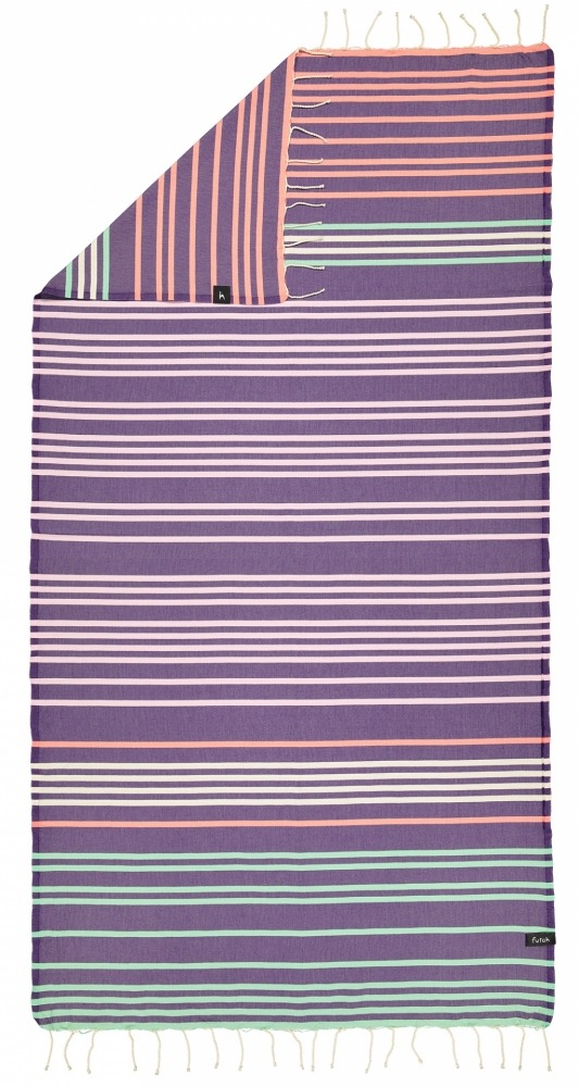 futah beach towels single Supertubos Single Towel Purple Back