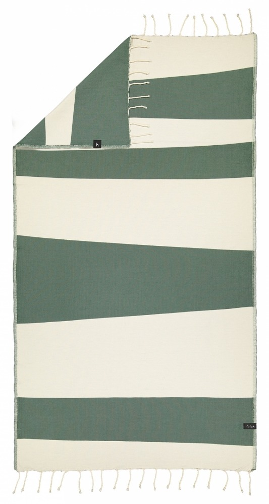 futah beach towels single Formosa Single Towel Verdant Green Back