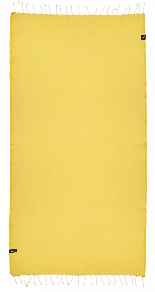 futah beach towels single Ericeira Single Towel Mustard Front
