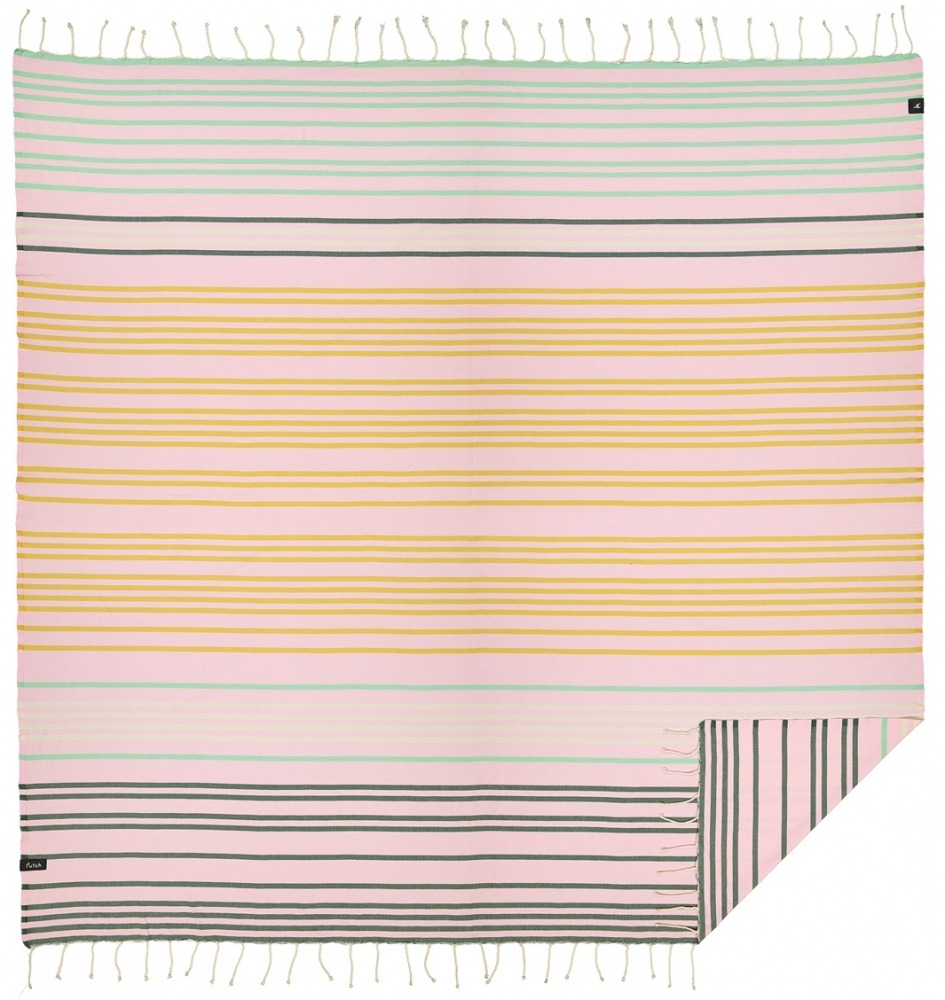 futah beach towels double Supertubos XL Towel Mustard Front