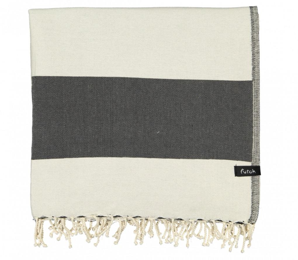 XL Towel Formosa Deep Black Folded