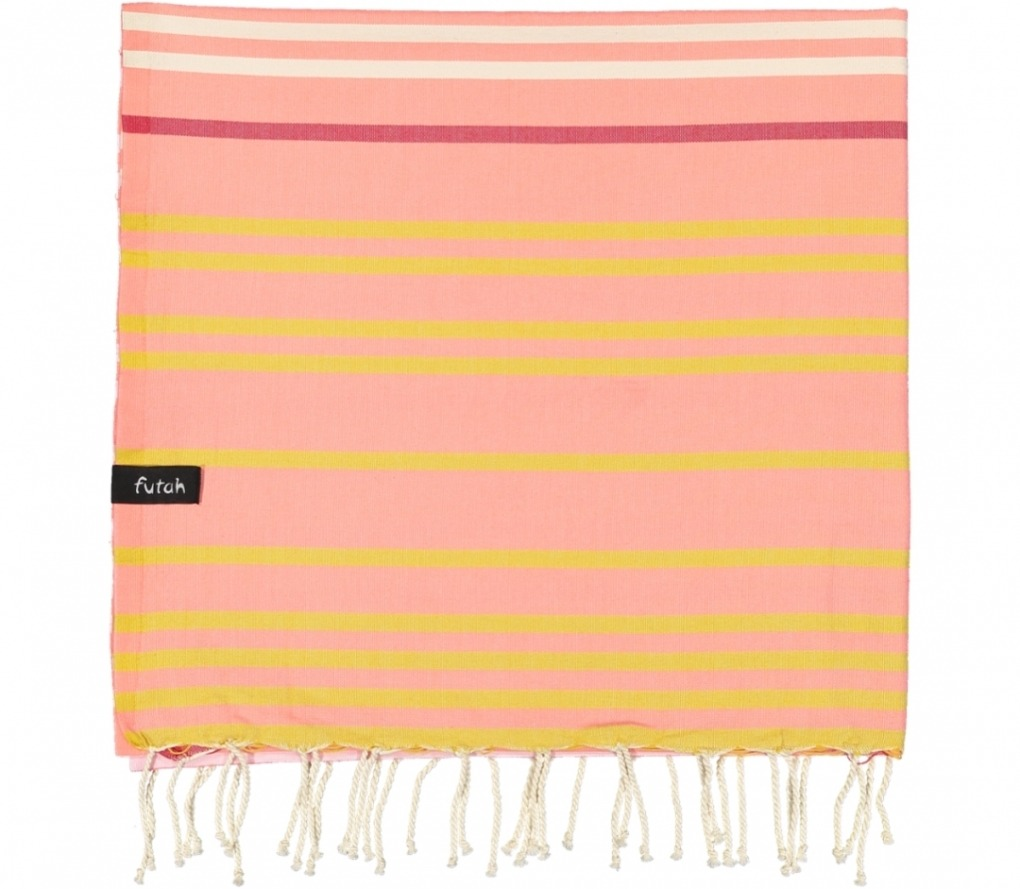 futah beach towels single Supertubos Single Towel Peach Folded