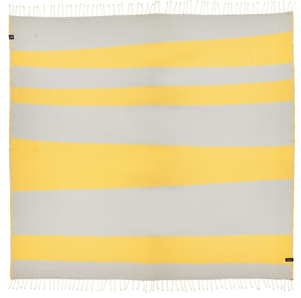 XL Towel Formosa Mustard Grey Back