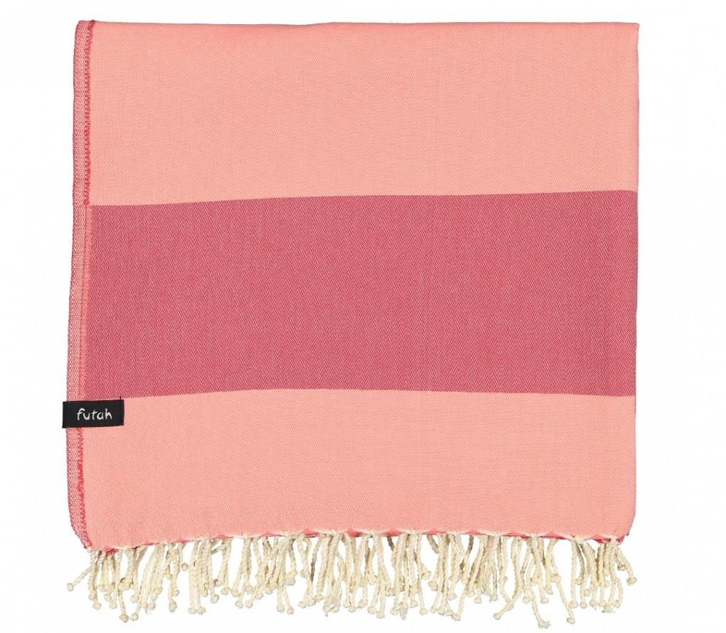 XL Towel Formosa Coral Peach Folded