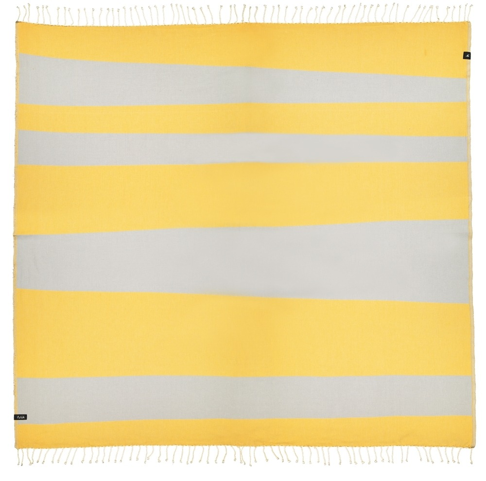 XL Towel Formosa Mustard Grey Front